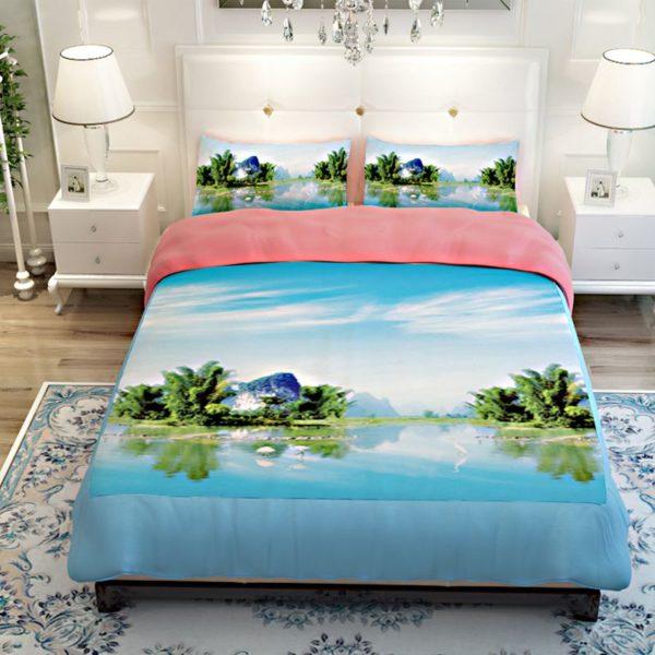 Lovely Riverfront Printed Bedding Set 4 600x600 - Lovely Riverfront Printed Bedding Set
