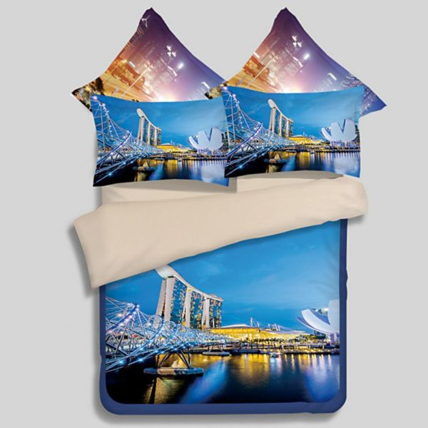 Magnificent City of Singapore Bedding Set 1 600x600 - Magnificent City of Singapore Bedding Set