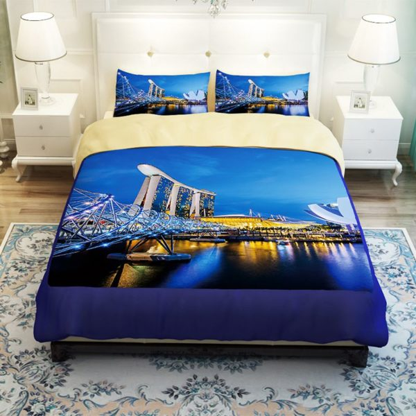 Magnificent City of Singapore Bedding Set 2 600x600 - Magnificent City of Singapore Bedding Set