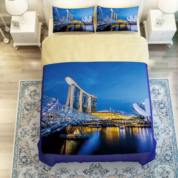Magnificent City of Singapore Bedding Set 3 600x600 - Magnificent City of Singapore Bedding Set