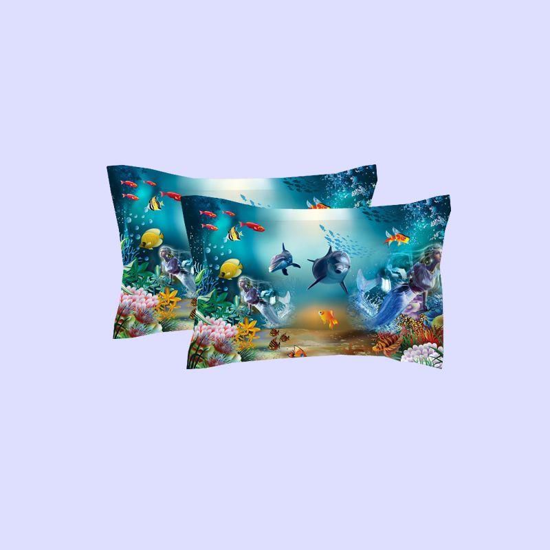 Ocean Underwater World Dolphin Coral Bedding Set