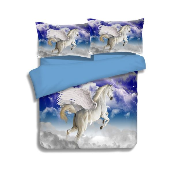 Pegasus the Winged Horse Printed Bedding Set 1 600x600 - Pegasus the Winged Horse Printed Bedding Set