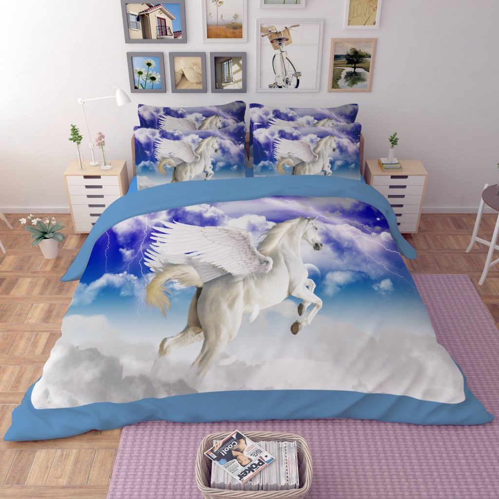 Ordinaire Pegasus The Winged Horse Printed Bedding Set