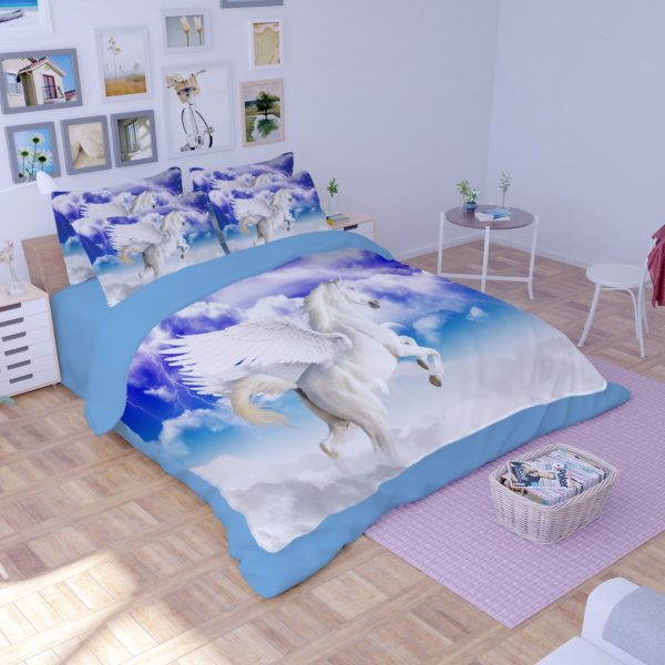 Pegasus the Winged Horse Printed Bedding Set 3 600x600 - Pegasus the Winged Horse Printed Bedding Set