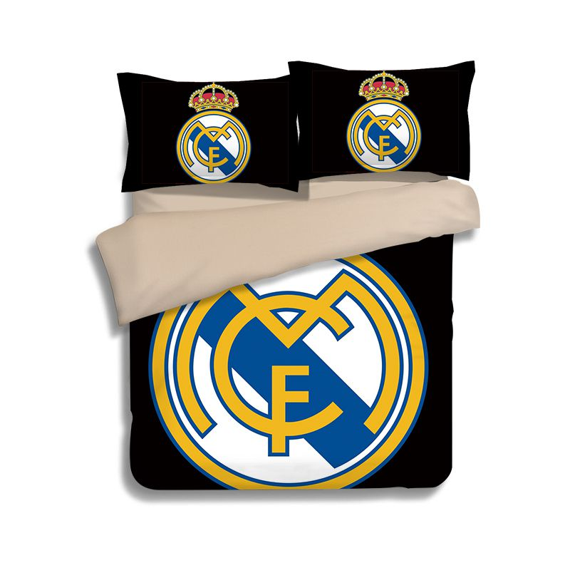 Real Madrid Logo Printed Bedding Set EBeddingSets Adorable Real Madrid Throw Blanket