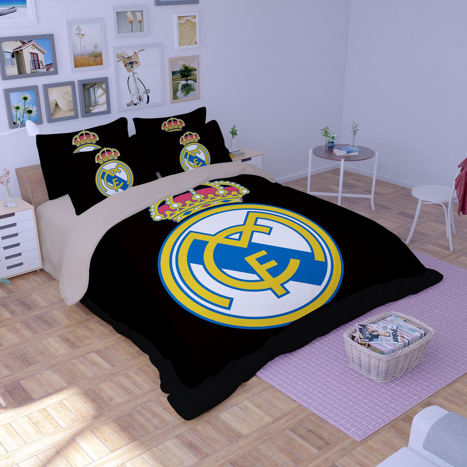 Real Madrid Logo Printed Bedding Set Ebeddingsets