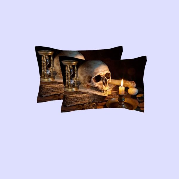 Retro Skull design 3d printed Bedding Set 1 600x600 - Retro Skull design 3d printed Bedding Set