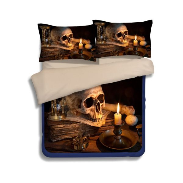 Retro Skull design 3d printed Bedding Set 3 600x600 - Retro Skull design 3d printed Bedding Set