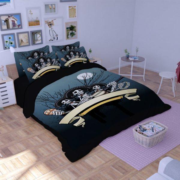 Rocking Skeleton printed bedding set 1 600x600 - Rocking Skeleton printed bedding set