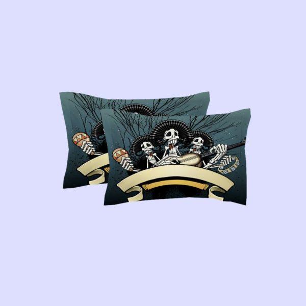 Rocking Skeleton printed bedding set 3 600x600 - Rocking Skeleton printed bedding set