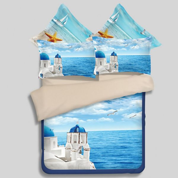 Scenic Ocean Curtain Set In Blue Printed Bedding Set 1 600x600 - Scenic Ocean Curtain Set In Blue Printed Bedding Set