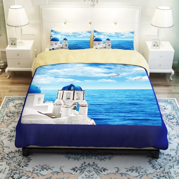 Scenic Ocean Curtain Set In Blue Printed Bedding Set 3 600x600 - Scenic Ocean Curtain Set In Blue Printed Bedding Set