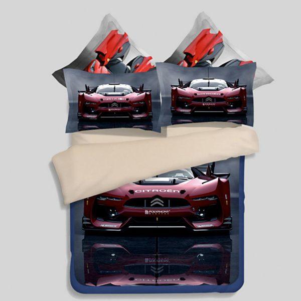 Stunning Ferrari Car Printed Bedding Set 1