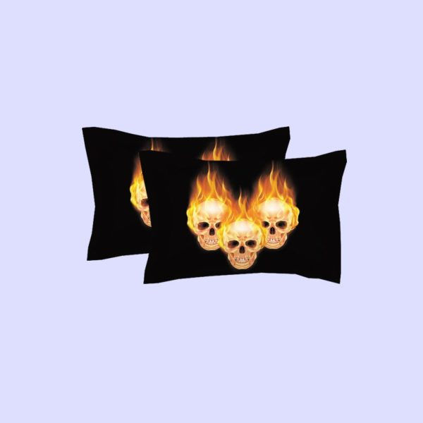 Stunning Fire Skull 3D printed bedding set 2 600x600 - Stunning Fire Skull 3D printed bedding set