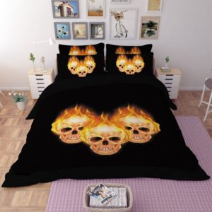 Stunning Fire Skull 3D printed bedding set 3 300x300 - Stunning Fire Skull 3D printed bedding set
