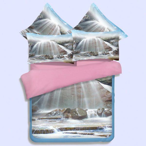 Stunning White Waterfall Bedding Set 1 600x600 - Stunning White Waterfall Bedding Set