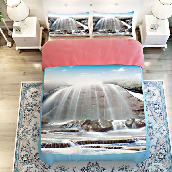 Stunning White Waterfall Bedding Set 3 600x600 - Stunning White Waterfall Bedding Set