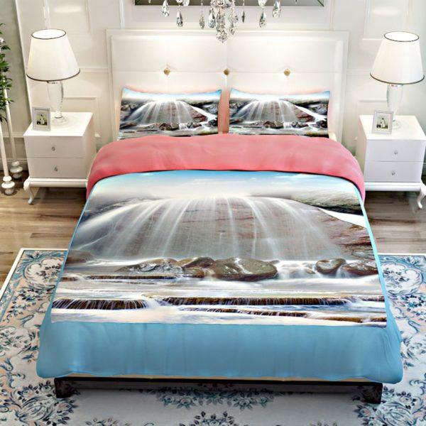 Stunning White Waterfall Bedding Set 4 600x600 - Stunning White Waterfall Bedding Set
