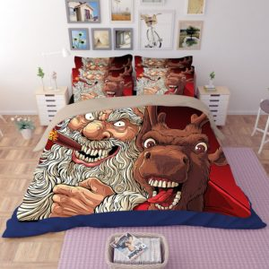 Terrific Horror Santa Claus Reindeer Bedding Set 1 300x300 - Terrific Horror Santa Claus & Reindeer Bedding Set