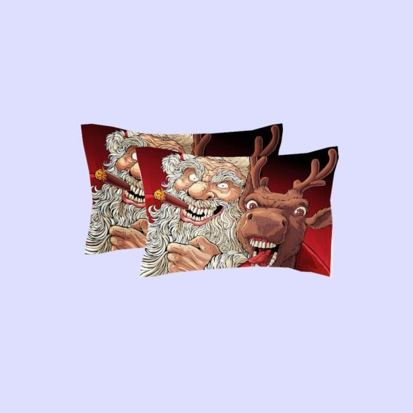 Terrific Horror Santa Claus Reindeer Bedding Set 4