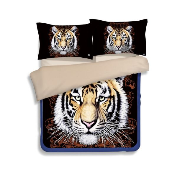 Tiger Face Printed Bedding Set 1 600x600 - Tiger Face Printed Bedding Set