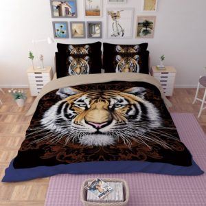 Tiger Face Printed Bedding Set 2 300x300 - Tiger Face Printed Bedding Set