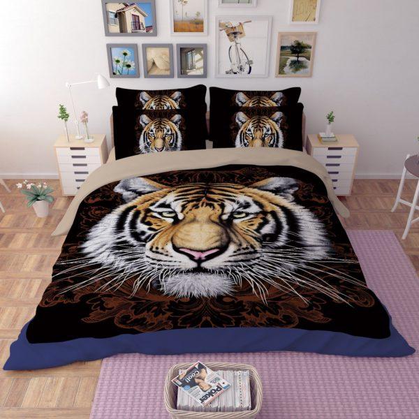 Tiger Face Printed Bedding Set 2 600x600 - Tiger Face Printed Bedding Set