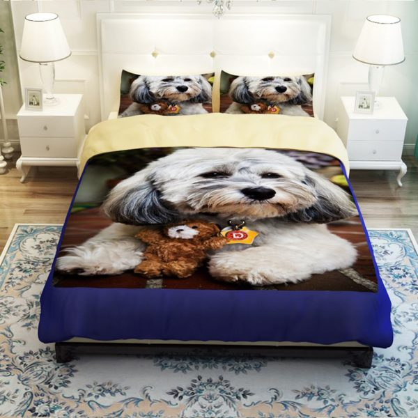 Unique Design 3D Dog Printed Bedding set 2 600x600 - Unique Design 3D Dog Printed Bedding set
