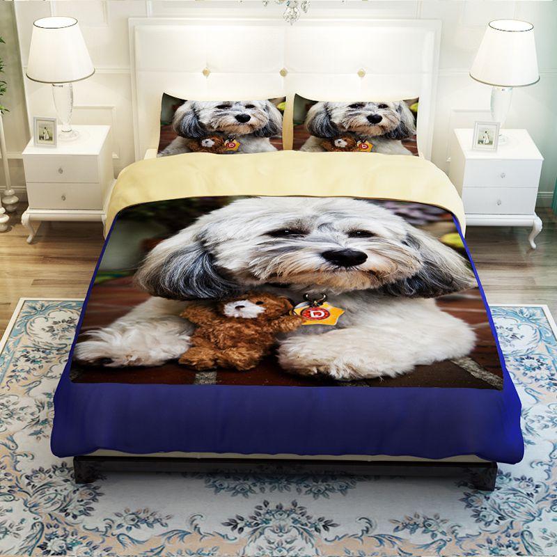 Unique Design 3d Dog Printed Bedding Set Ebeddingsets
