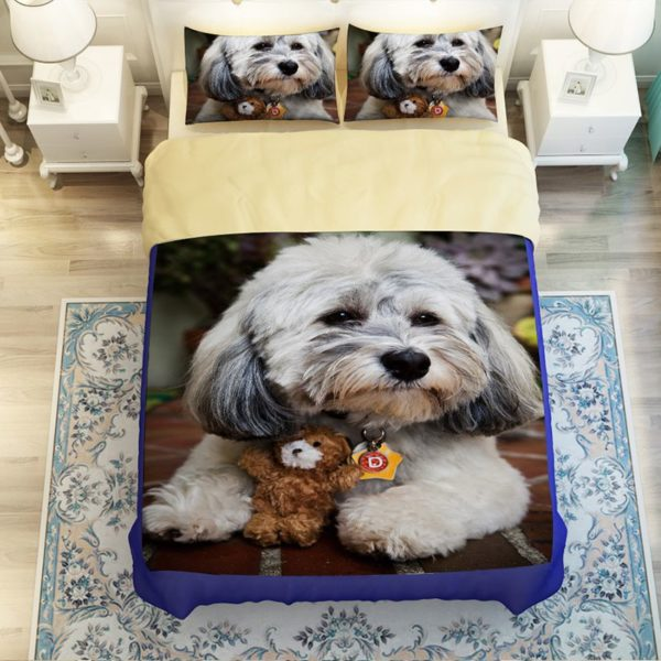 Unique Design 3D Dog Printed Bedding set 3 600x600 - Unique Design 3D Dog Printed Bedding set