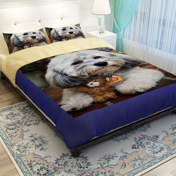 Unique Design 3D Dog Printed Bedding set 4 600x600 - Unique Design 3D Dog Printed Bedding set