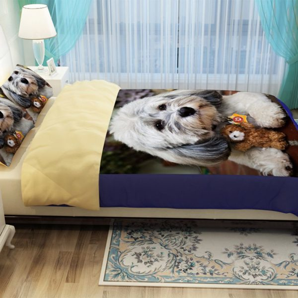 Unique Design 3D Dog Printed Bedding set 5 600x600 - Unique Design 3D Dog Printed Bedding set