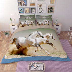 White Horses Running Printed Bedding Set 2 300x300 - White Horses Running Printed Bedding Set