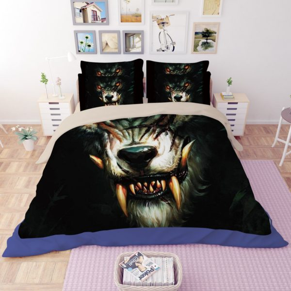 World of Warcraft Curse of the Worgen Printed Bedding Set 2 600x600 - World of Warcraft Curse of the Worgen Printed Bedding Set