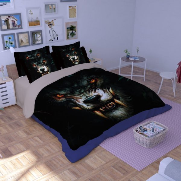 World Of Warcraft Curse Of The Worgen Printed Bedding Set