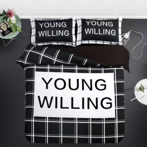 Young Willing Quoted White Black Bedding Set 3 300x300 - Young Willing Quoted White & Black Bedding Set