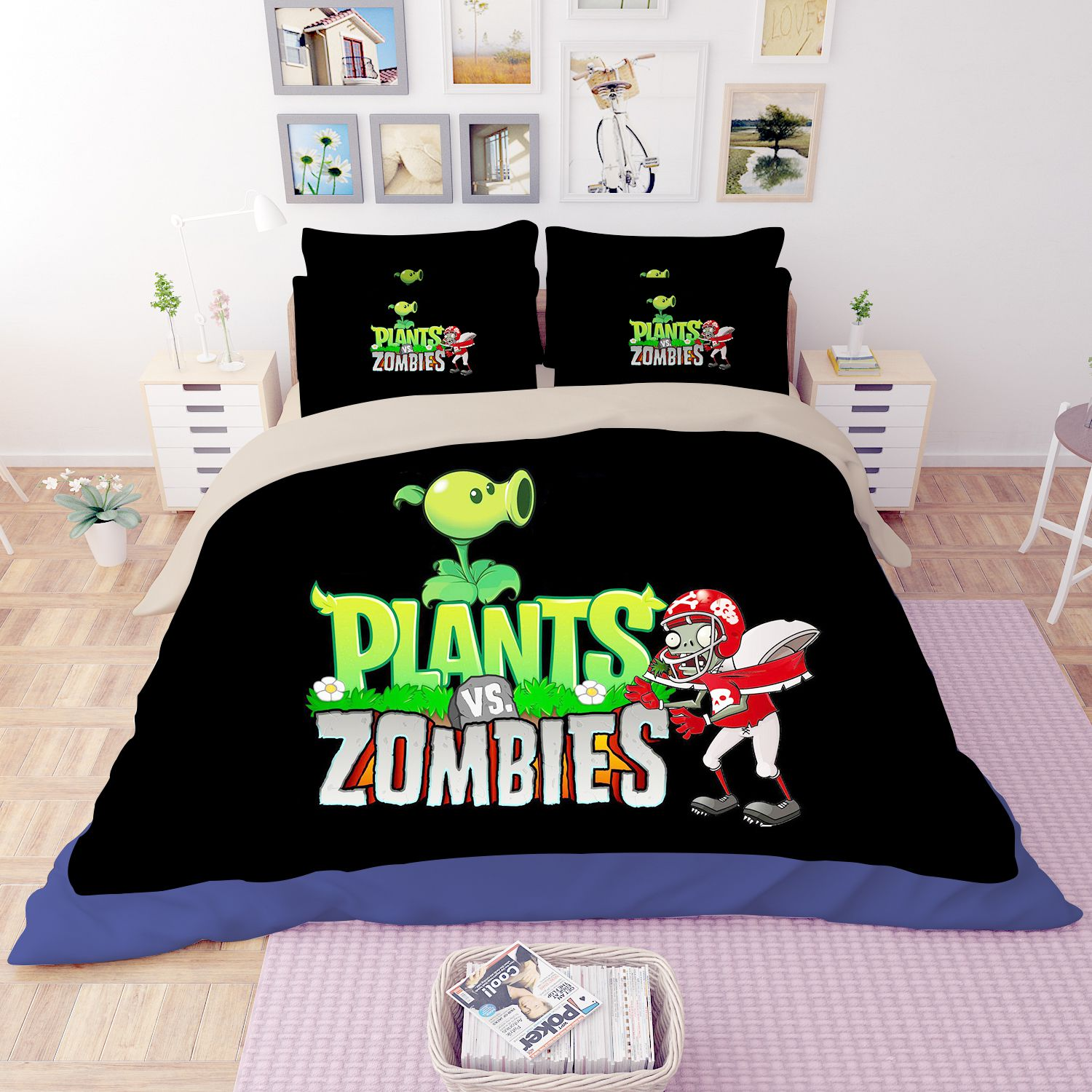 Plant Vs Zombie Bedding Set Ebeddingsets