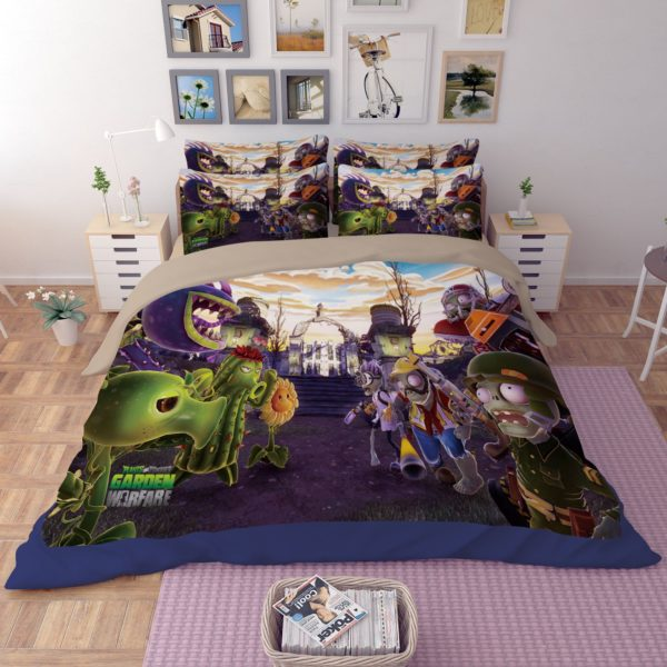 plant vs zombie garden warfare bedding set