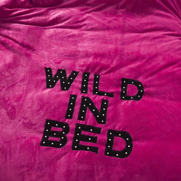 Victorias Secret Flannel Warm Embroidery Bedding FKAL ROSE RED 4