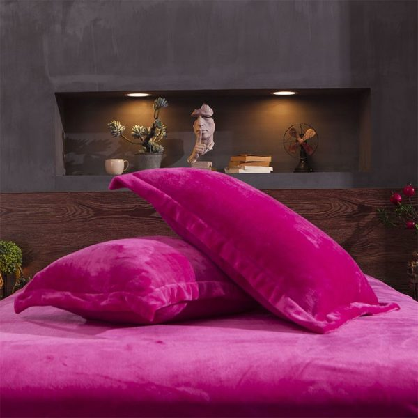 Victorias Secret Flannel Warm Embroidery Bedding LSMD ROSE 10
