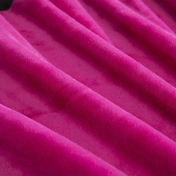 Victorias Secret Flannel Warm Embroidery Bedding LSMD ROSE 9