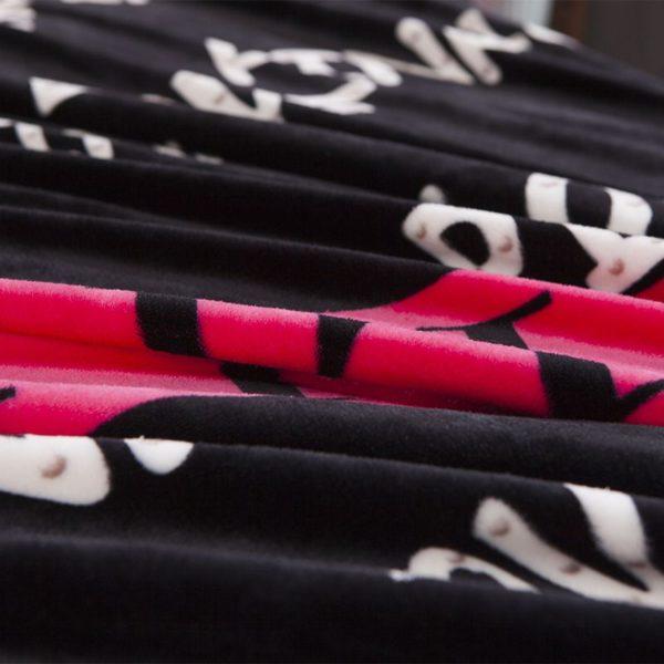 Victorias Secret Flannel Warm Printing Bedding Set HX 10