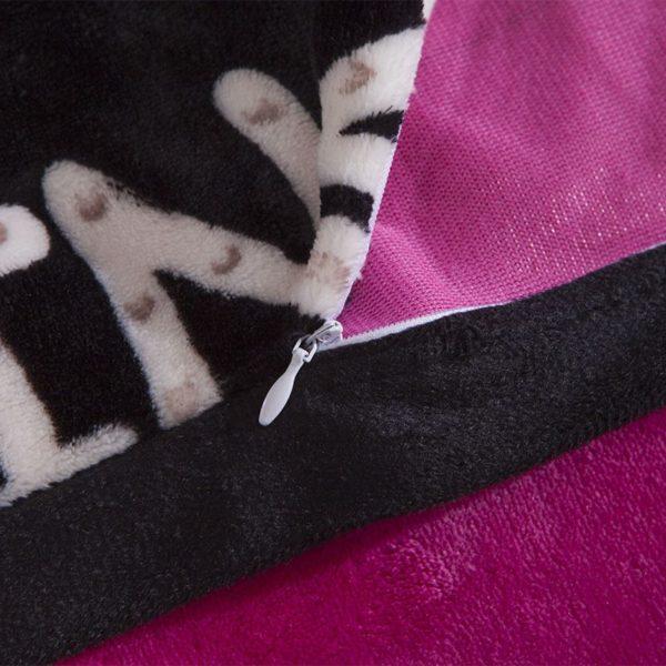 Victorias Secret Flannel Warm Printing Bedding Set HX 5