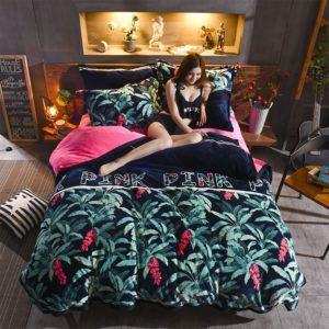 Victorias Secret Flannel Warm Printing Bedding Set MM 1 300x300 - Victoria's Secret Flannel Warm Printing Bedding Set MM