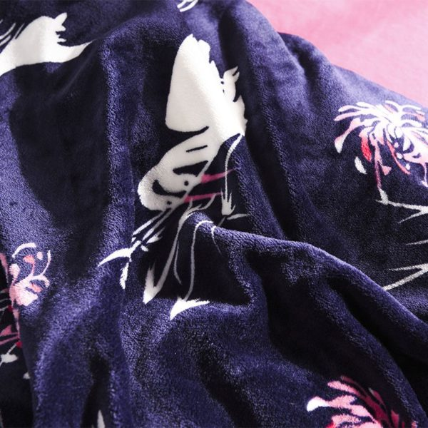 Victorias Secret Flannel Warm Printing Bedding Set SH 3