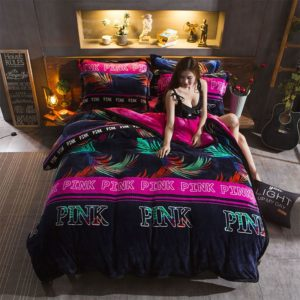 Victorias Secret Flannel Warm Printing Bedding Set YY 1 300x300 - Victoria's Secret Flannel Warm Printing Bedding Set YY