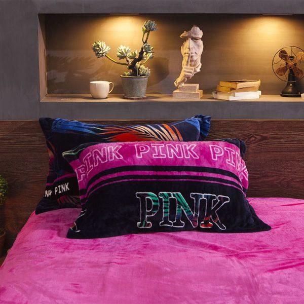Victorias Secret Flannel Warm Printing Bedding Set YY 2 600x600 - Victoria's Secret Flannel Warm Printing Bedding Set YY