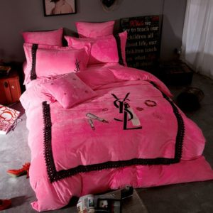 Victoria's Secret Velvet Warm Lace Embroidery Bedding Set CCXY