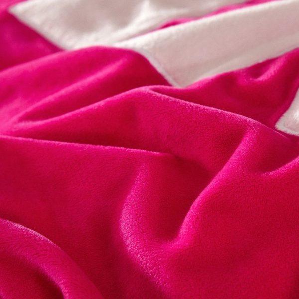 Victorias Secret Velvet Warm Lace Embroidery Bedding Set LGMX 3