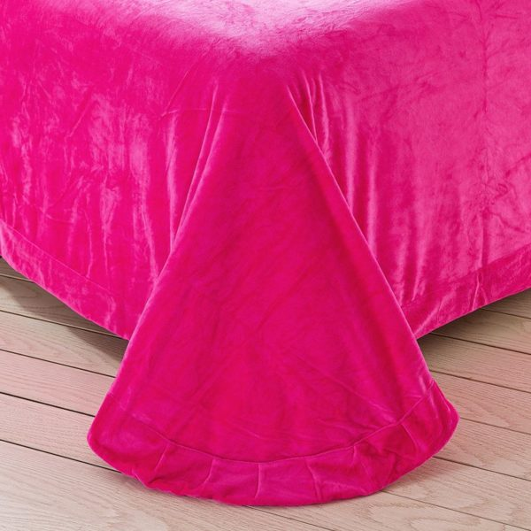 Victorias Secret Velvet Warm Lace Embroidery Bedding Set LGMX 7